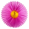Marguerite in silk paper 68 cm yellow/Fuchsia x1