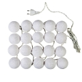 Lights balls 7 cm white x1