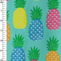 Oilcloth Pineapple Turquoise x10cm