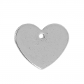 Heart sequin 13x11 mm stainless steel x4