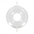 Glass donuts 2 holes to fill 40 mm x1