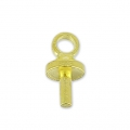 Mini eyelet for polymer clay 7 mm gold tone x16