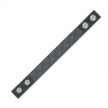 Bracelet to embroider imitation leather 20 mm black x 23 cm