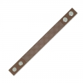 Bracelet to embroider imitation leather 20 mm brown x 23 cm