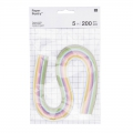 Set paper bands for quilling Paper Poetry 5mm Pastel x200