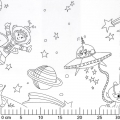 Fabric Color Me - Space Adventures White x60cm