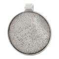 Medallion to decorate for round cabochon  50 mm old silver tone x1