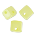 Crisscross Cubes 4 mm Pastel Yellow Pearl x30