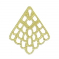 Filigree finding pendant 24x20 mm gold tone x1