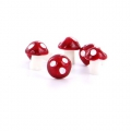 Mushrooms 12 mm White/Red x4