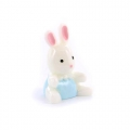 Bunny 20 mm White/Blue x1