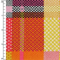 Fabric Breezy Blooms - Multi Check Dot Plaid x10cm