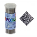 Enamel Powder Efcolor black textured x10ml
