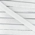 Leather band suede imitation 5 mm white x50cm