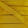 Leather band suede imitation 5 mm Mustard x50cm