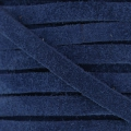 Leather band suede imitation 5 mm navy blue x50cm