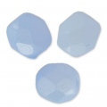 Fire Polished faceted round beads 4mm Pastel Blue Pearl x50