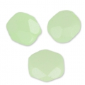 Fire Polished faceted round beads 4mm Pastel Green Pearl x50