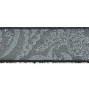 Leather lace paisley pattern 10 mm Grey x50cm
