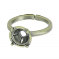 Ring for cabochon 1028 8 mm bronze x1