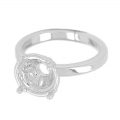 Ring for cabochon1028 8 mm rhodium   x1
