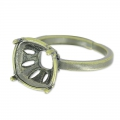 Ring for cabochon 4470 10 mm bronze x1