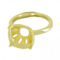 Ring for cabochon 4470 10 mm gold tone x1