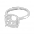 Ring for cabochon 4470 10 mm rhodium   x1
