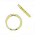 Ring with settings for 1028 cabochons 1.8mm size gold tone x1