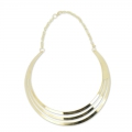 Metal chocker with chain 14 cm gold tone x1