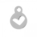 Heart pendant  11x8 mm stainless steel x1