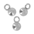 Ball pendant 4 mm for extension chain stainless steel x10
