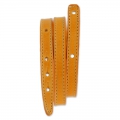 Leather bracelet base 2 turns 10 mm Orange x 40 cm