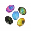 Oval fancy Cabochons 18x13 mm Galaxy x10
