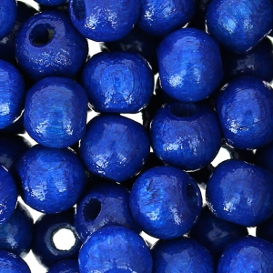 Wooden round beads 6mm navy blue  x125
