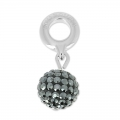 Swarovski 87003 Pave Ball Charms 8 mm Jet Hematite x1