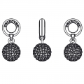 Swarovski 87003 Pave Ball Charms 8 mm Light Rose x1