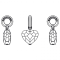Swarovski 87004 Love Charms 12 mm Crystal Antique Pink x1