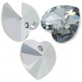Swarovski 6228 Heart 14,4x14mm Crystal Light Chrome x1