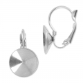 Leverback earrings for Rivoli 1122 12 mm stainless steel x2