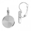 Leverback earrings for cabochon 14 mm stainless steel x2