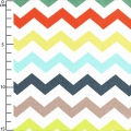 Fabric Nested Owls - Chevron Mint/Multicolour x10cm