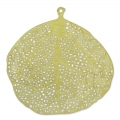 Light Leaf pendants 39mm row brass x4