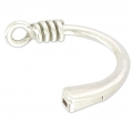 Half-bracelet Magnetic clasp for band 5 mm Old Silver tone x1