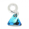 Swarovski 87002 Triangle Charms 12 mm Crystal Bermuda Blue x1