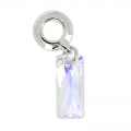 Swarovski 87007 Queen Baguette Charms 13.5 mm Crystal AB x1