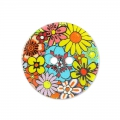 Mother-of-Pearl Button flower 15 mm Multicolour x1