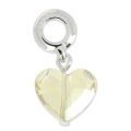 Swarovski 87004 Love Charms 12 mm Crystal Golden Shadow x1
