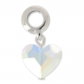 Swarovski 87004 Love Charms 12 mm Crystal AB x1
