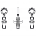 Swarovski 87005 Cross Charms 14 mm Crystal AB x1
